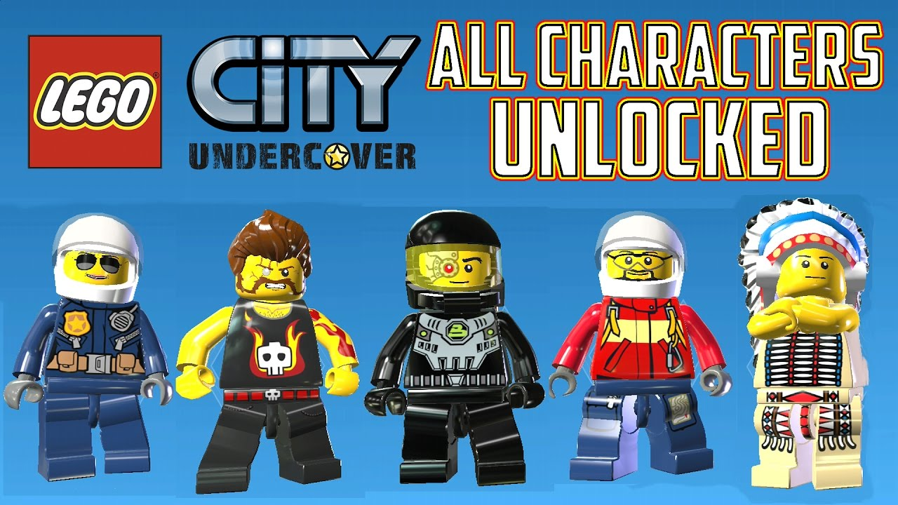 Lego City Undercover All Characters Unlocked All 305 Characters