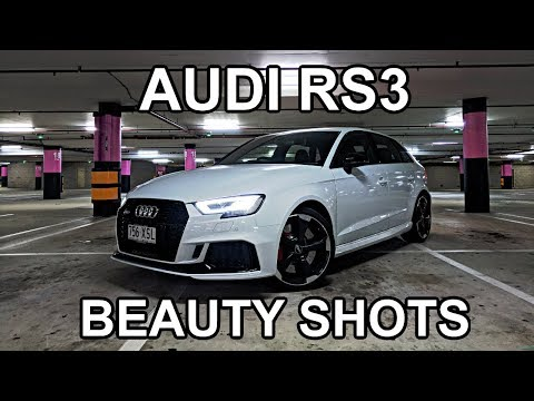 RS3 Parking Garage Beauty Shots + Pulling 1G with Launch Control