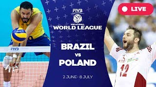 Resultado de imagem para Brazil v Poland - Group 1: 2017 FIVB Volleyball World League