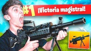 EPIC VICTORIA CON LA NUEVA *AMETRALLADORA LIGERA* de FORTNITE: Battle Royale!! - Agustin51