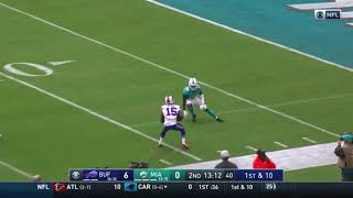 Josh Allen connects to John Brown for a 40 yards touchdown Dolphins vs Bills