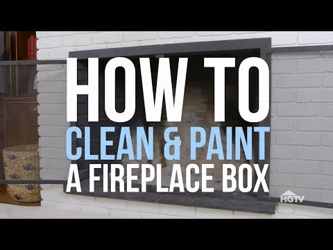 How to Paint a Fireplace Box - HGTV