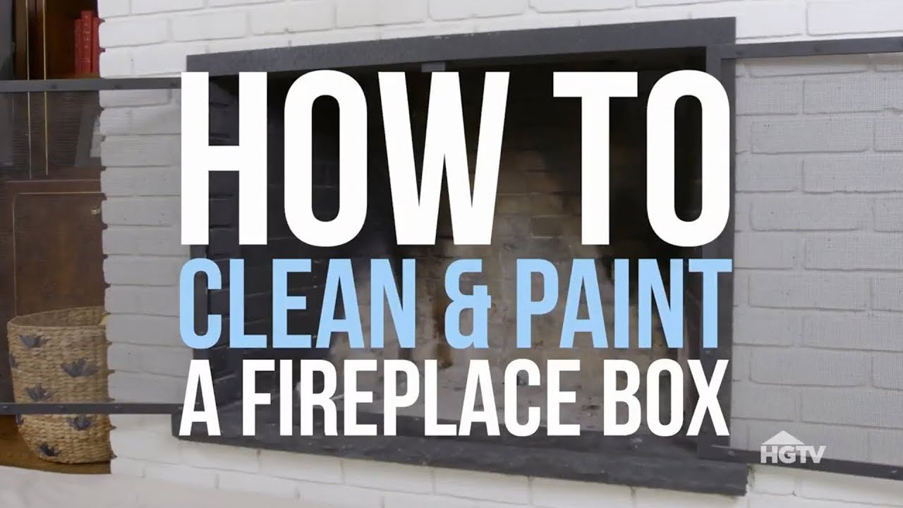 Painting An Old Fireplace How To Paint A Fireplace Box Hgtv