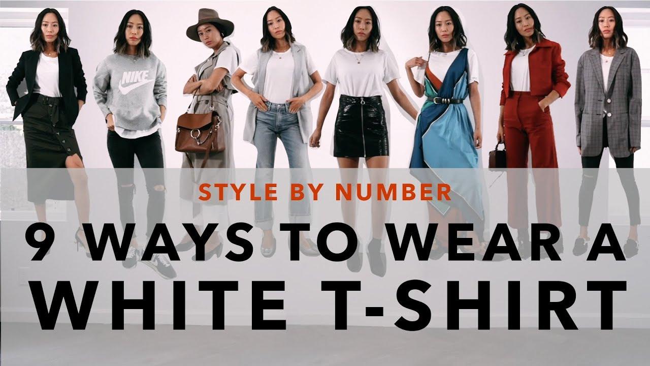 9 Ways To Wear A White T-Shirt