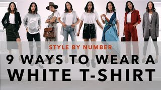 9 Ways To Wear A White T-Shirt - Style By Number | Aimee Song