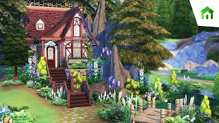 TINY HIDDEN WITCH COTTAGE ✨   The Sims 4: Tiny Living   Speed Build