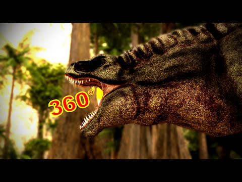 "360 Degree Jurassic Dinosaur Park CGI Movie – ""A T-Rex Named June"" Google Cardboard VR"