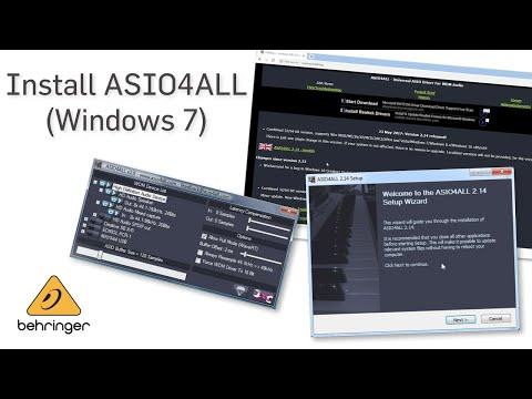 How To Install ASIO4ALL (Windows 7)