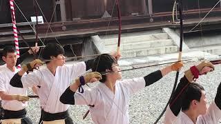 三十三間堂 通し矢 Japanese Archery Sanjusangen-do 2019.1.13 Kyoto Japan
