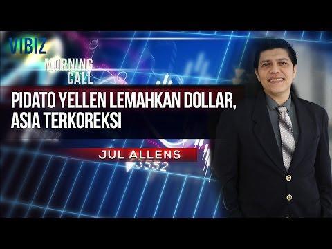 Pidato Yellen Lemahkan Dollar, Asia Terkoreksi, Vibiznews 25 Februari 2015