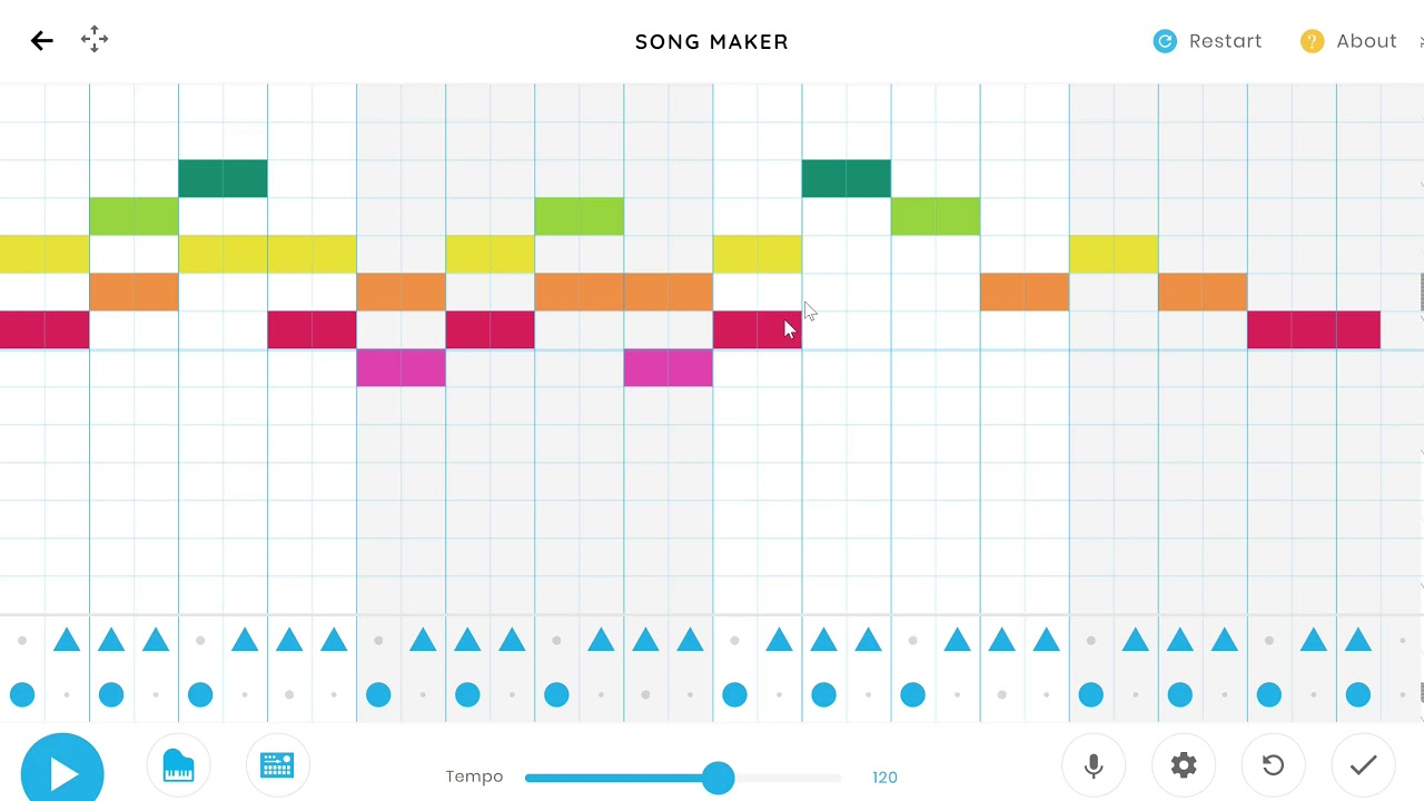 Chrome Music Lab Song Maker tutorial for primary