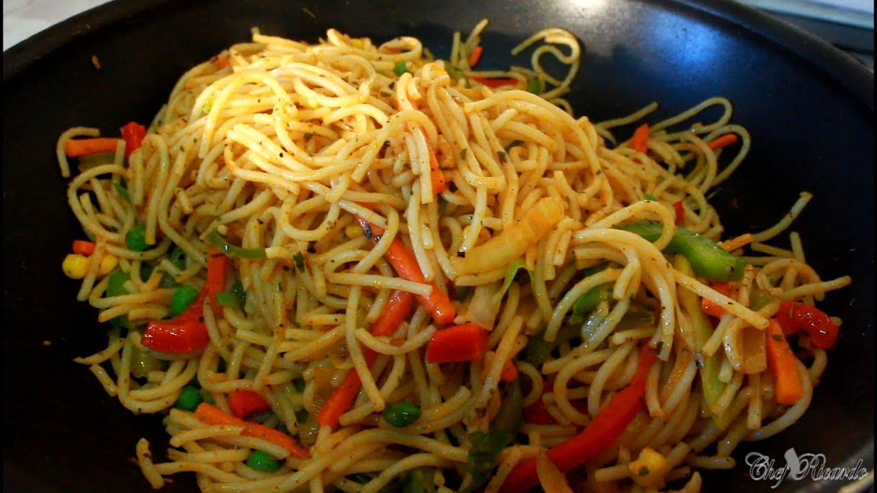 Jerk spaghetti and veg recipes by chef ricardo youtube forumfinder Gallery