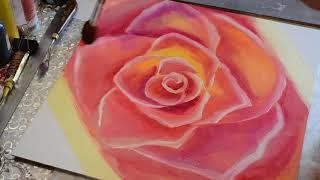 Роза маслом. Легко.  The Rose.