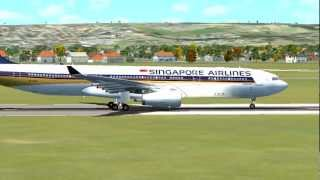 Singapore Airlines Airbus A330 Perth to Singapore [FSX HD]