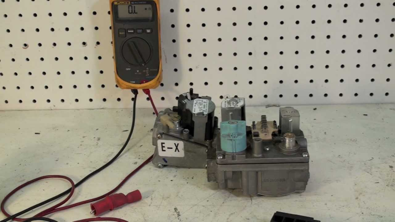 How to test the gas valve on a gas furnace with an ohmmeter - YouTube