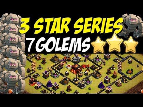 3 Star Series: 7 Golem War Attack Strategy TH10  Killing It!!! | Clash of Clans