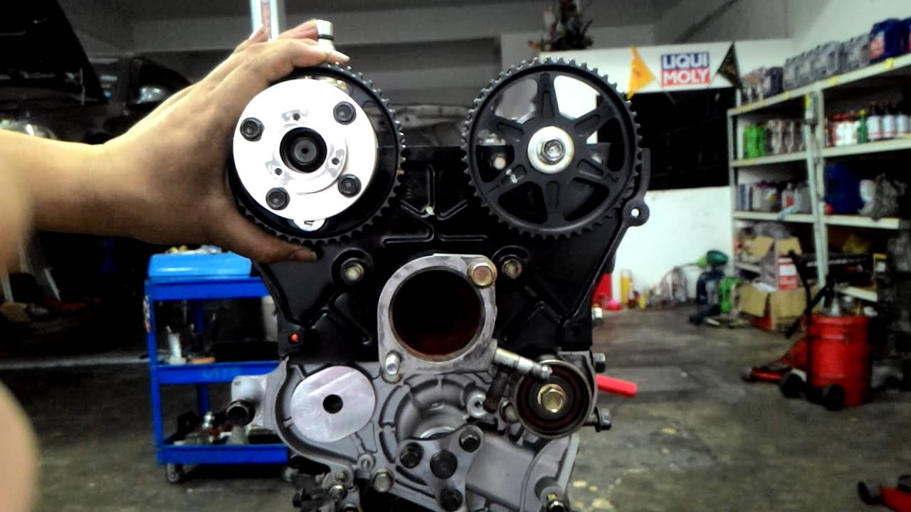 What Is A Timing Belt >> Mazda Miata MX5 VVT Actuator Intake Cam Pulley - YouTube