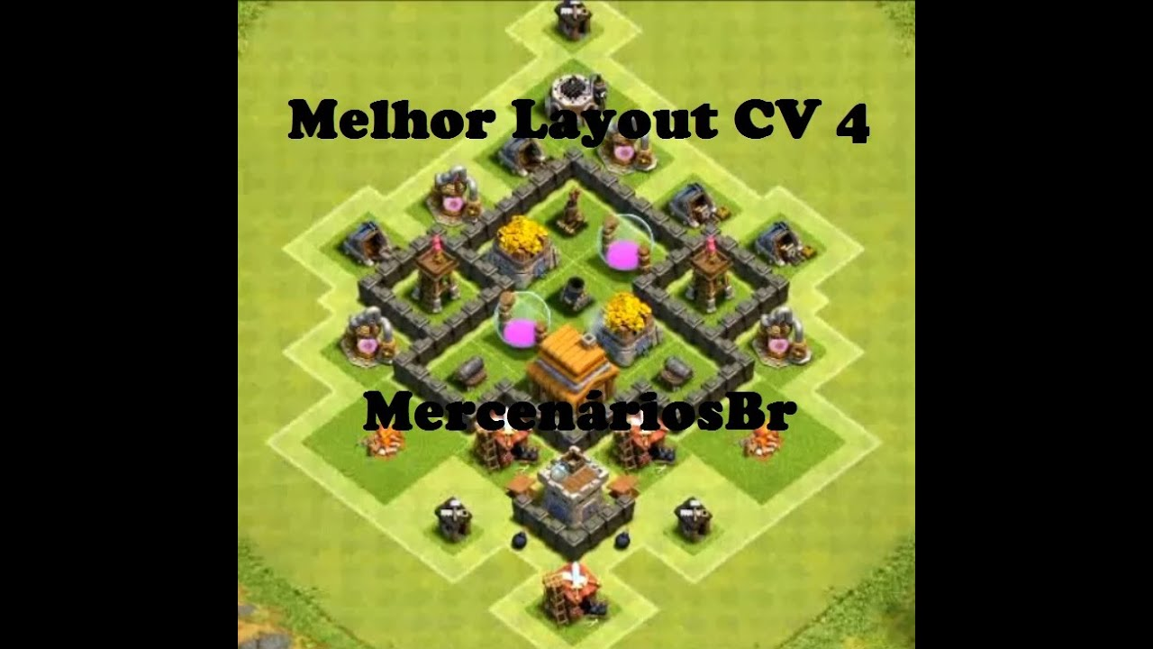 clash of clans melhor layout cv 4 best layout th 4 mercenriosbr youtube - Layout Cv 4 Clash Of Clans