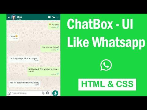 Design ChatBox Like Whatsapp - HTML & CSS