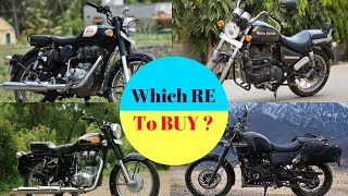 Which ROYAL ENFIELD Is BEST For You To BUY ! Bullet 350, Classic 350, Thunderbird 350 OR Himalayan
