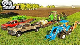 HUNTING FOOD PLOTS! CLEARING LAND & PLANTING PLOTS FOR DEER!   FARMING SIMULATOR 2019