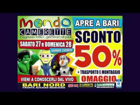 Video mondo camerette apre a bari youtube for Mondo camerette bari