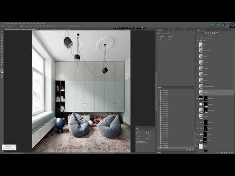 Фэйковый свет и постобработка в Corona Renderer от CGBandit