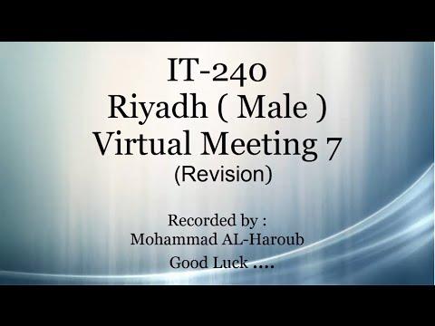 IT240 Riyadh male virtual meeting 7 ( Revision Mid-term )