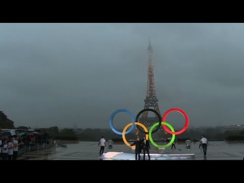 Paris unveils Olympic rings after IOC awards 2024 Games