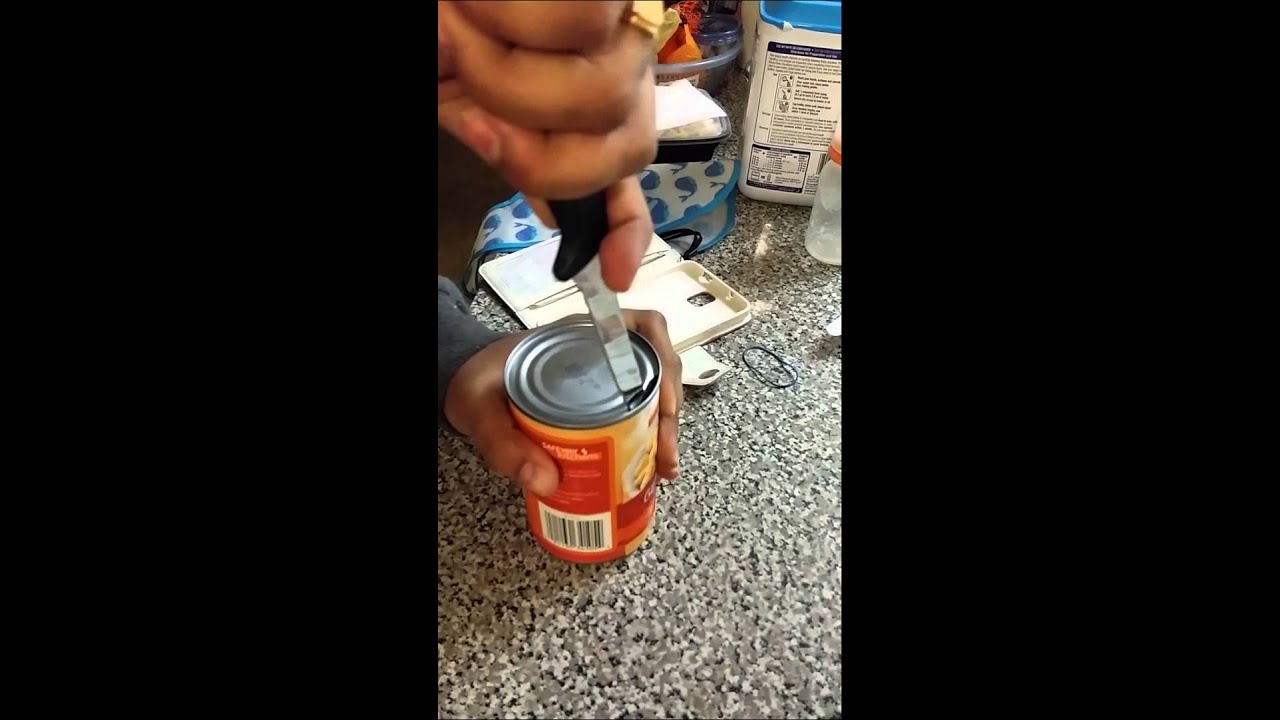How To Open Can Food Without Opener