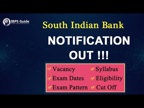 South Indian Bank Recruitment 2019 Out | SIB Notification PDF With Detailed Analysis