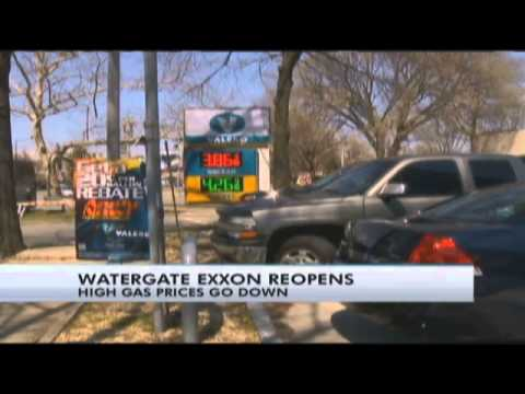 Watergate gas station reopens with lower prices