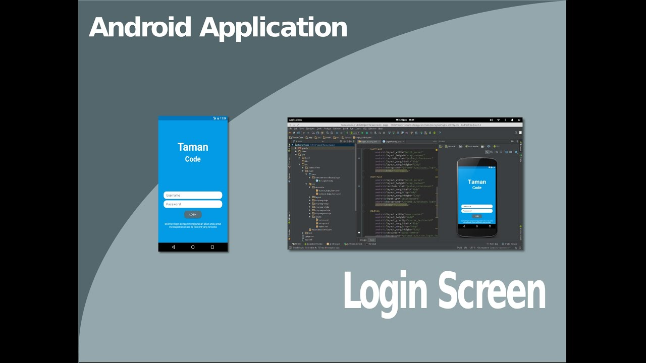 Membuat user interface android LOGIN SCREEN - YouTube