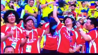 FILAワールドカップ  カリスマブラザーズ出演の瞬間!!  全力で喜んでいるカリブラがテレビに抜かれた!🌏🎌⚽️