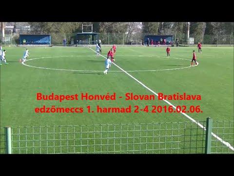 Budapest Honvéd - Slovan Bratislava U12 edzőmeccs 1. harmad 2-4 2016.02.06.