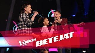 Adolf vs Erika vs Alisia - Locked out of heaven   Betejat   The Voice Kids Albania 2018