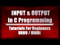 Input Output in C Programming urdu hindi   Scanf Function   User Input