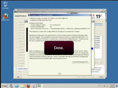 How to install Oracle 11g on Windows Server 2008 R2