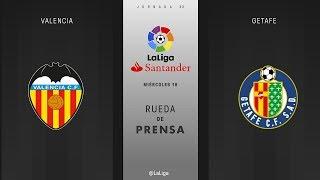 Rueda de prensa Valencia vs Getafe
