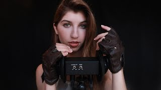 ASMR Leather Ear Massage & Play