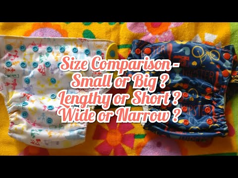 3. Size Comparison Between Different Cloth Diapers (India) - Cloth Diaper Review And Comparison