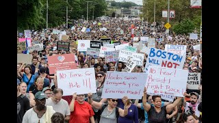 Counter-protesters dwarf far-right marchers at Boston rally