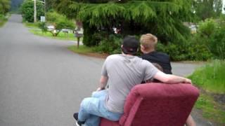 Lay-Z Boy Recliner Longboarding