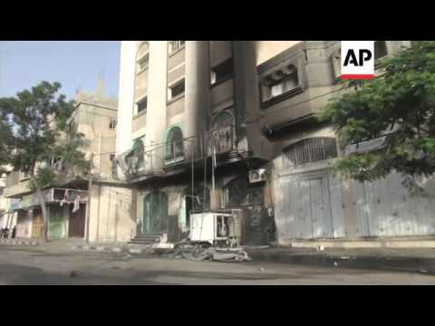Gaza airstrike impact, aftermath, Israeli troops at border, Iron Dome