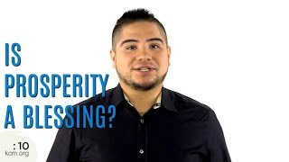 Ministry Minute: Is Prosperity A Blessing?
