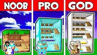 Minecraft - NOOB vs PRO vs GOD : FAMILY BLOCK HOTEL in Minecraft Animation