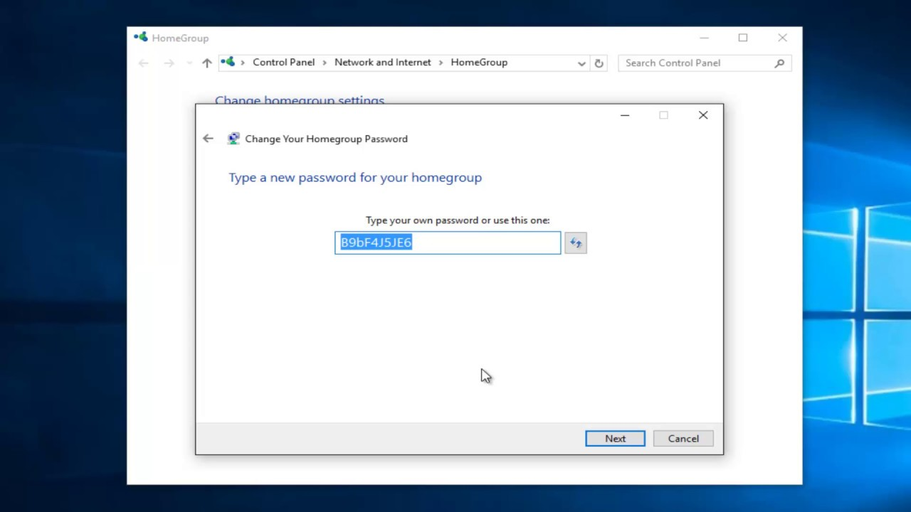 How To Change Homegroup Password In Windows 10 - YouTube