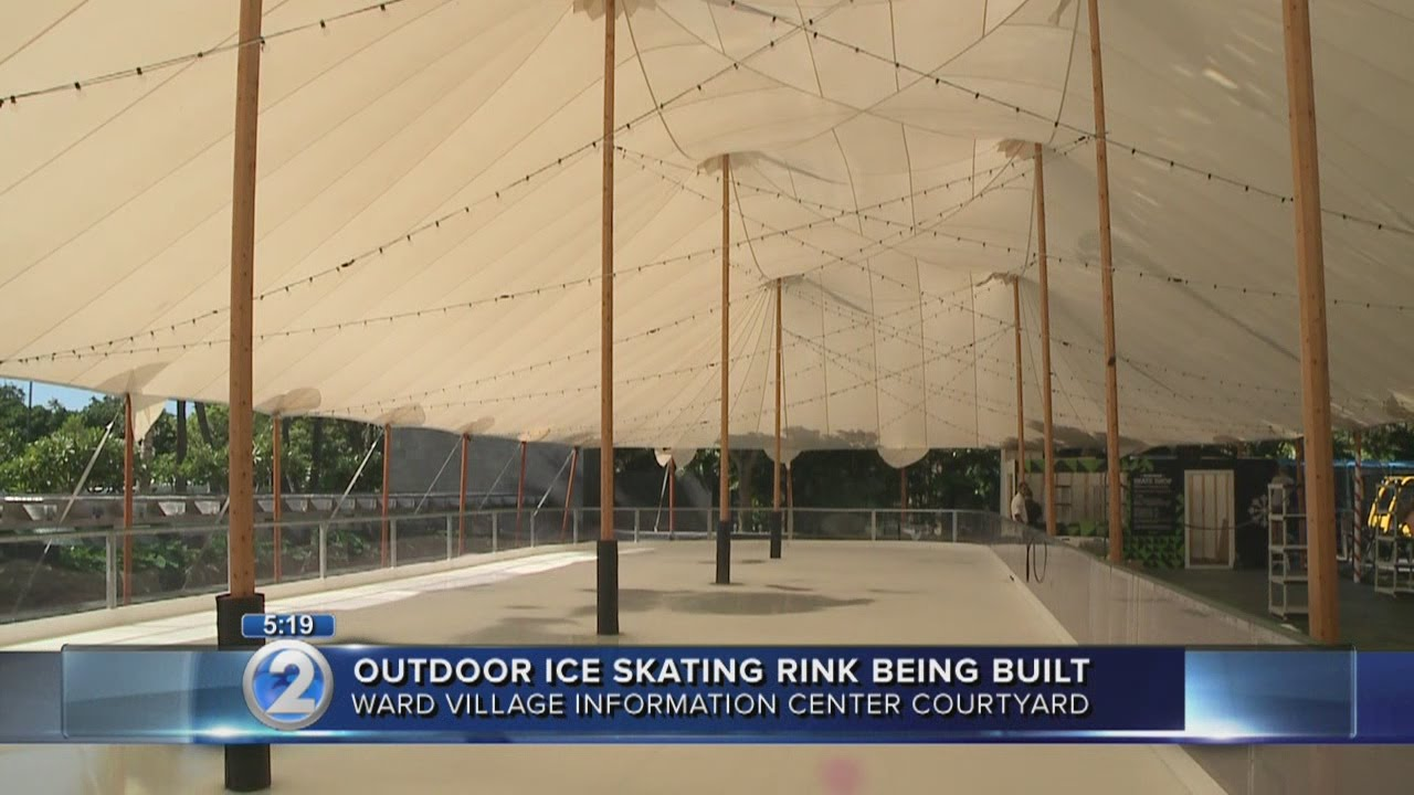ward village ice rink ready for holiday skaters youtube