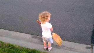 Broom Ball Girl