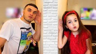 Papa and Masha in the magic room